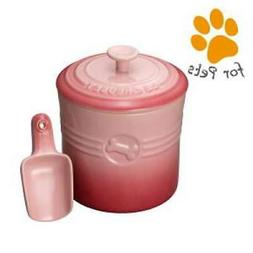 LE CREUSET Pet/Dog Food Container with Scoop for 900g Dry Fo