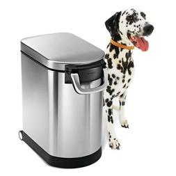 simplehuman X-Large Pet Food Storage Can, Brushed Stainless