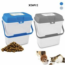 Pet Food Storage Container 2 Gallon Airtight Portable Large