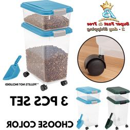 Pet Food Storage Sealed Container Dog Cat Airtight Treat Pup