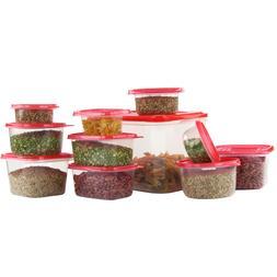 58 Piece Plastic Food Container Set - 29 Plastic Storage Con