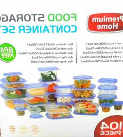 88-Piece Plastic Food Storage Container Set ~ BPA-Free Micro
