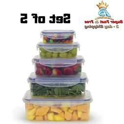 Plastic Food Storage Containers With Lids BPA Free Reusable
