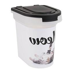 "Paw Prints 37910 15 lb. Plastic Pet Food Bin, 12.5"" L x 9.75"
