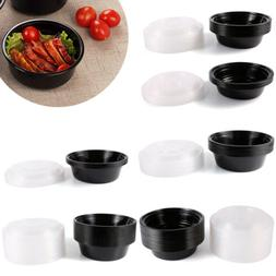 Plastic Round Food Grade Disposable Containers Take Out Micr