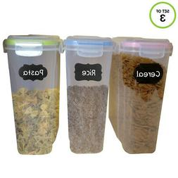 Evelots Food Storage Containers-Airtight-Cereal/Sugar-17 Cup