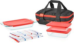 Pyrex® Portable 9-pc. Baking Dish Double Decker Set with