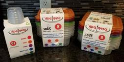 PREP PAK PORTION CONTROL COLOR CODED FOOD STORAGE CONTAINERS