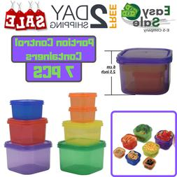 Ess Portion Control Containers Multicolor Color Coded Lose w