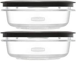 Rubbermaid Premier Food Storage Container, Grey, 3-Cups