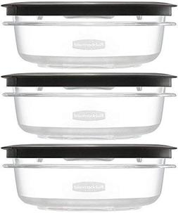 LOT OF 3 RUBBERMAID PREMIER FOOD STORAGE CONTAINER, 3-CUP, G