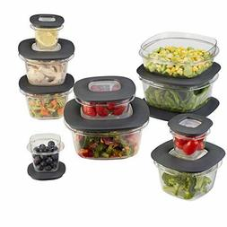 Rubbermaid Premier Food Storage Containers, 20-Piece Set, Gr