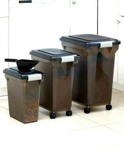 IRIS® Premium Pet Cat Dog Food Storage Container w/ Scoop 1