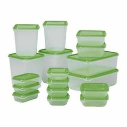 IKEA PRUTA BPA FREE FOOD CONTAINER SET OF 17 MICROWAVE,FREEZ