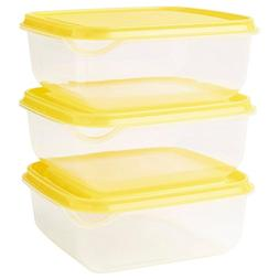 IKEA PRUTA Food Storage Square 14x14x2.25 Container 20 oz, 6