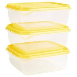 IKEA PRUTA Food Storage Square 14x14x2.25 Container 20 oz, 6