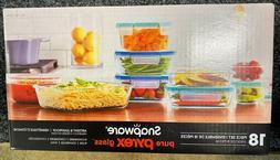 Snapware, Pyrex 18-piece Glass Food Storage Set, Airtight Le