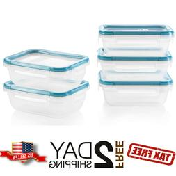 Pyrex Plastic Kitchen Food Storage Containers Set Lunch Box