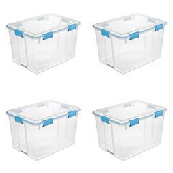 Sterilite 19384304 80 Quart/76 Liter Gasket Box, Clear Lid &