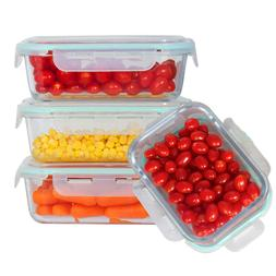 Rectangle 51 Oz Lunch Glass Food Storage - Meal Prep Contain