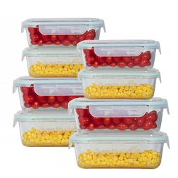 Rectangle & Square Glass Meal Prep Storage Containers Set Sn