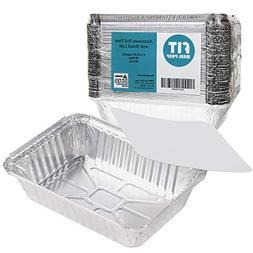 Rectangular Disposable Aluminum Foil Pan Take Out Food Conta