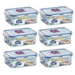 Lock&Lock Rectangular Food Container, Short, HPL806, 1-1/2-C