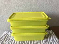 Tupperware Rectangular Fridge Food Storage Containers Set Of