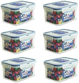 Lock & Lock Rectangular Water Tight Food Container, Set of 6