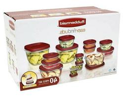 Rubbermaid RED Easy Find Lids Food Storage Container 40-Piec