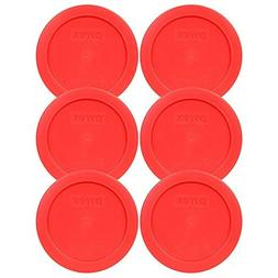 Pyrex 7200-PC Red Round 2 Cup Storage Lid For Glass Bowl Bpa