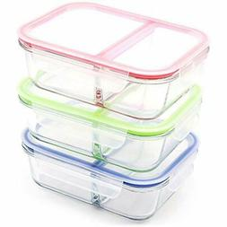RENPHO Food Storage & Organization Sets 3-Pack, 36oz Glass M