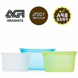 Reusable Food Storage & Organization Sets Silicone Container