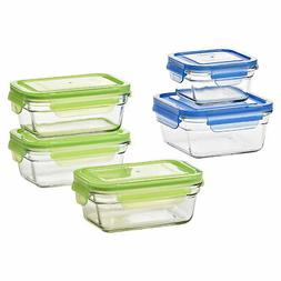 Glasslock Reusable Food Storage Container Set, Oven & Freeze