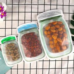Reusable Mason Jar Food Container Bottles Seal Candy Cookies