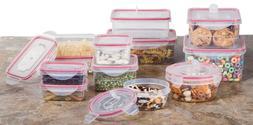 Reusable Microwave Plastic Container Set -  24 Plastic Food