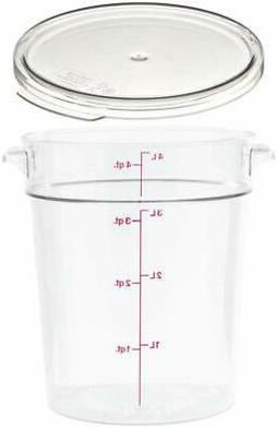 Cambro RFSCW4135 Camwear 4-Quart Clear Round Food Storage Co