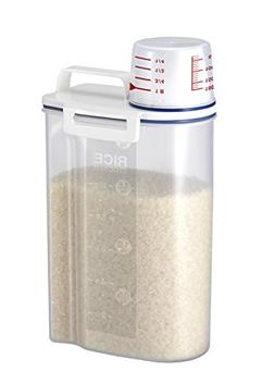 Rice Dispncer Storage Container Spacesaver Bin w Pour Spout