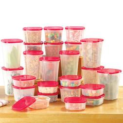Rotating Plastic Food Storage Container System for Kitchen -