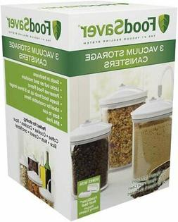 FoodSaver 3 Piece Round, BPA-free Canister Set