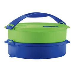 Tupperware Round Microwavable Lunch Box- Easy Grip, Click &