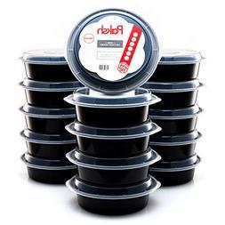 Round Plastic Reusable Microwavable Meal Prep Food Saver Sto