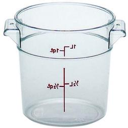 Cambro Round Storage Container Clear 1 Qt.