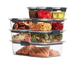 Rubbermaid Brilliance 22-piece Plastic Microwave Safe Food S