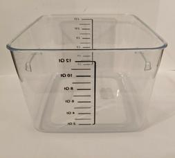 Rubbermaid Space Saving Square Food Storage Container 12-Qt