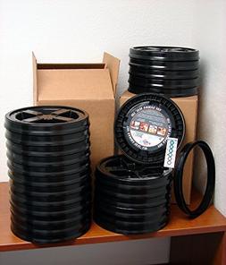 Gamma Seal Lid, Black, 24 Pack - New! - Boxed! - 5 Gallon Bu