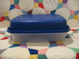 TUPPERWARE Season Serve Large Marinade Container BLUE Meat M