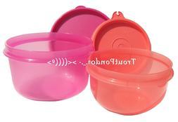 TUPPERWARE Set 2 Lunch Box Ideal Little Bowl Guava Serving D