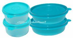 TUPPERWARE Set 4 Lunch Box Bowls Little Wonder Snack Serving