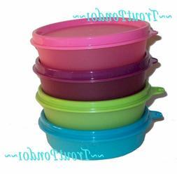 TUPPERWARE Set 4 Lunch Box Little Wonder Bowls Small Dish Pu